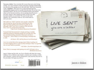 [the book cover for LIVE SENT: you are a letter.